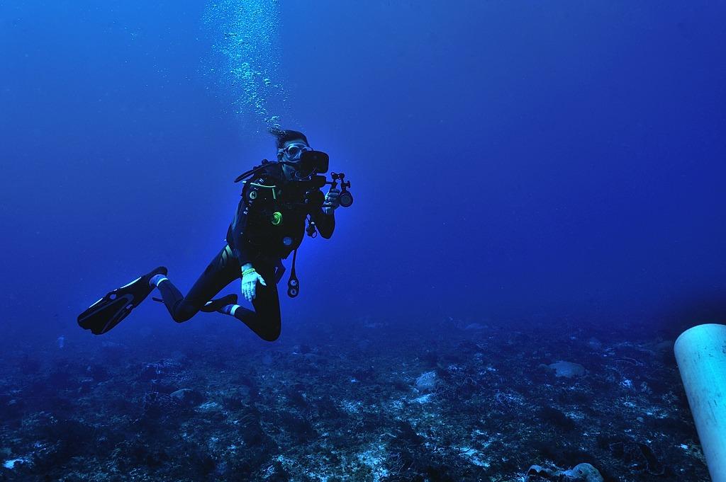Cécilia en plongée